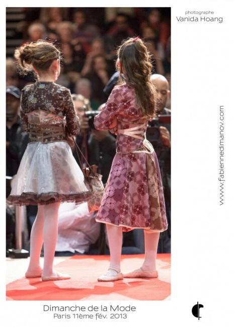 Venise et Bengale (dos) au Dimanche de la Mode - Fabienne Dimanov Paris