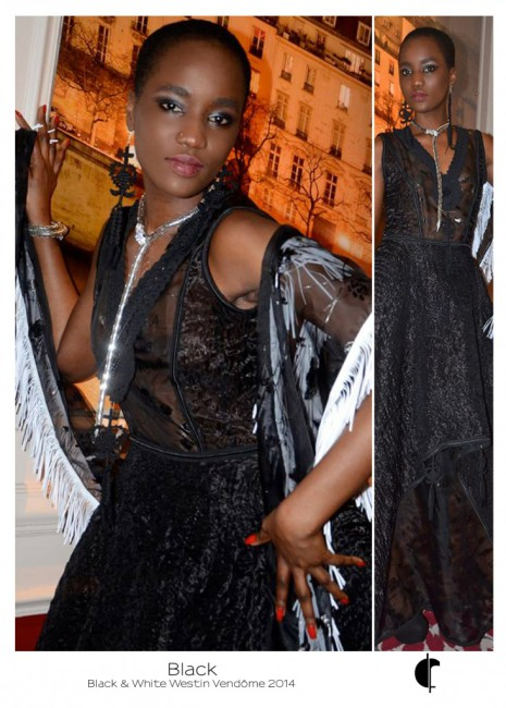 Black au Westin Vendôme (coulisses) - Fabienne Dimanov Paris