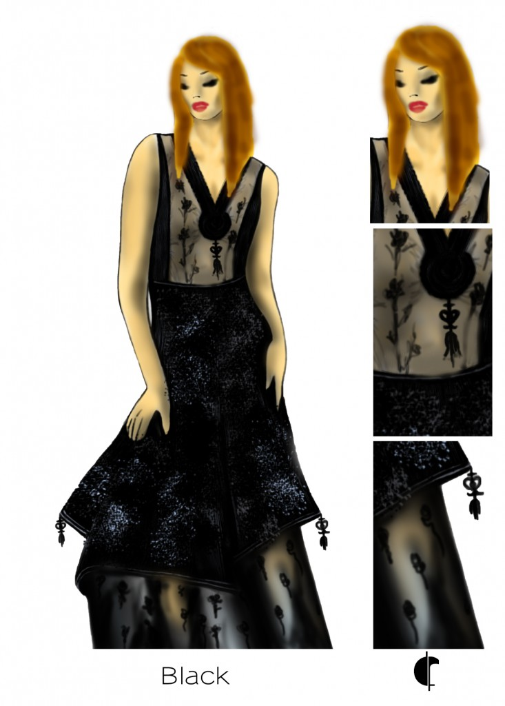 croquis robe sur-mesure