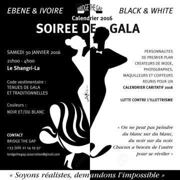 Soirée de Gala Black & White au Shangri-La - Calendrier Black and White