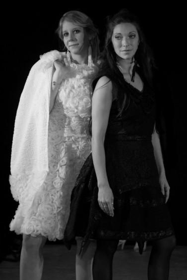 La Petite Robe Noire et Blanche - Défilé Art'smod 2016 - Fabienne Dimanov Paris