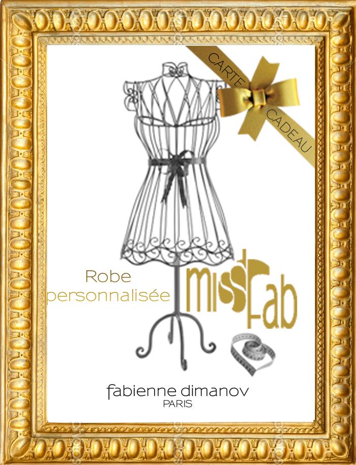 Carte cadeau Miss Fab - Fabienne Dimanov Paris