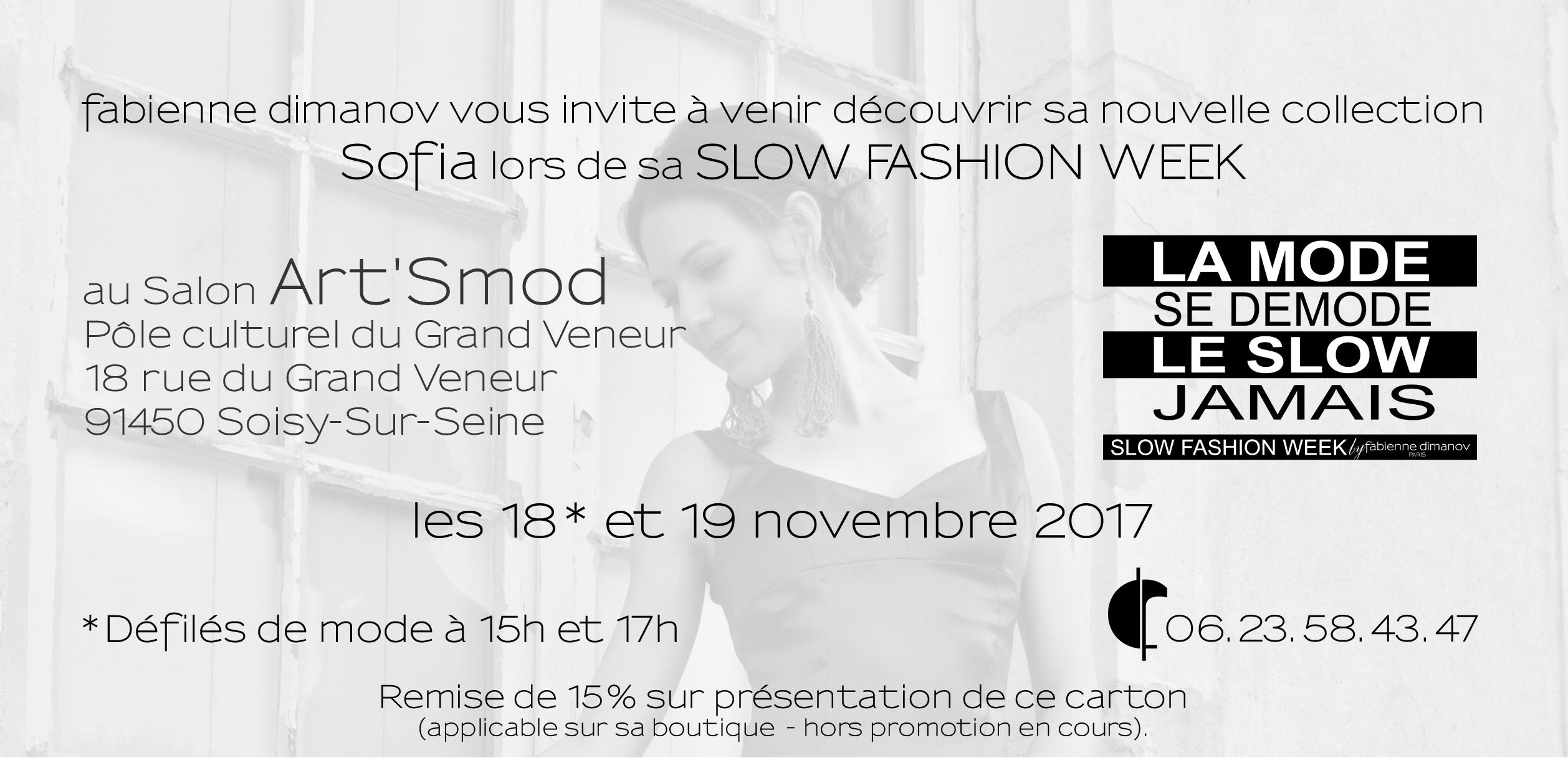 SLOWFASHIONWEEK- invitation - Fabienne Dimanov Paris