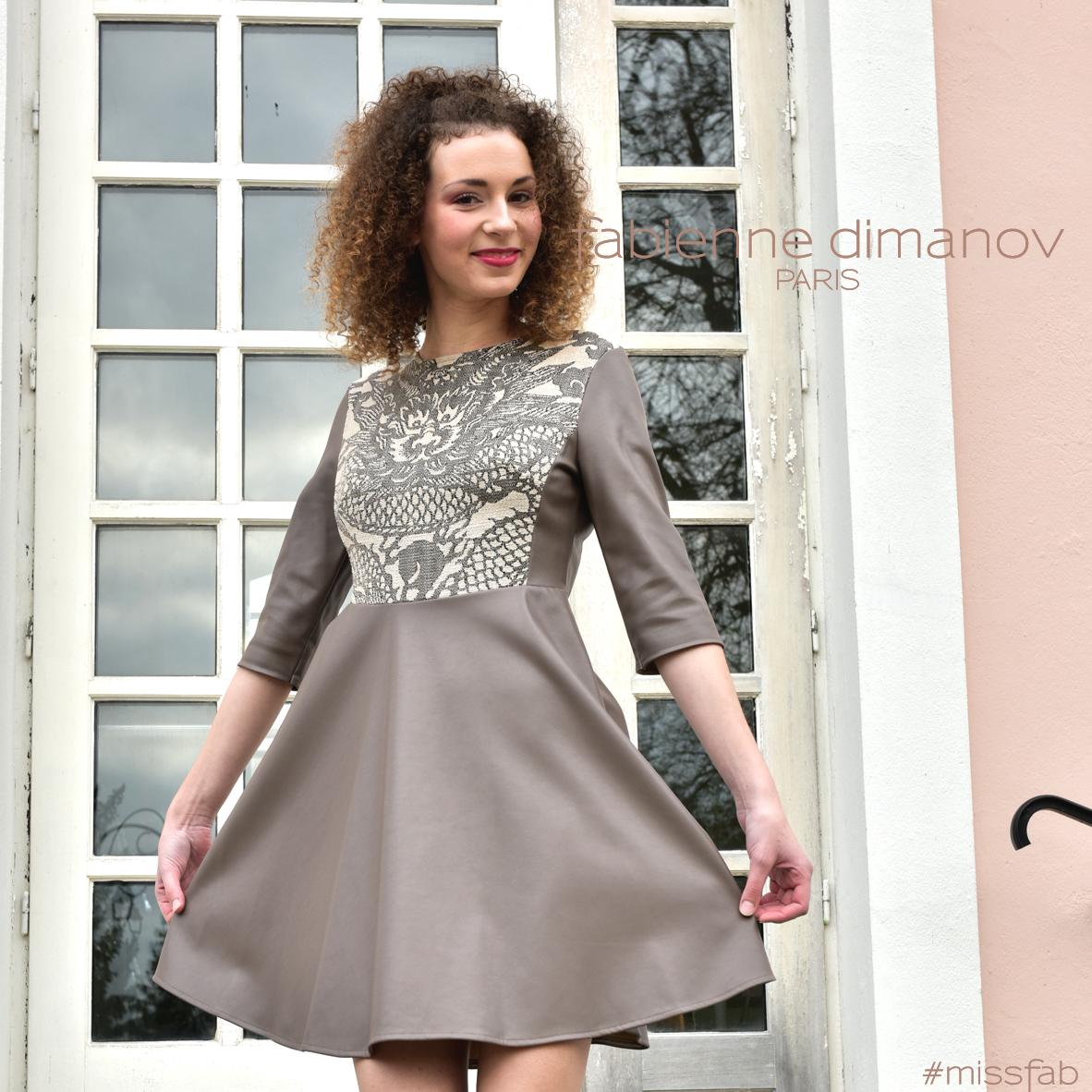 Robe perso #missfab - robe patineuse - Fabienne Dimanov Paris