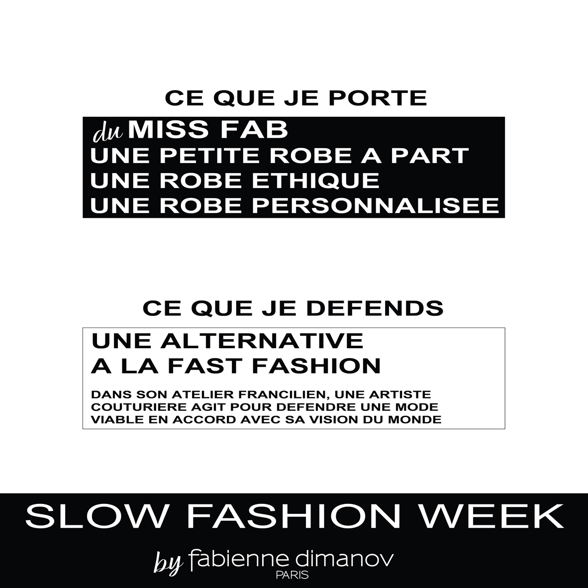 Slow fashion days 2018 - Fabienne Dimanov Paris