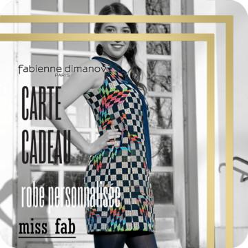 carte cadeau miss fab - robe personnalisée - Fabienne Dimanov Paris
