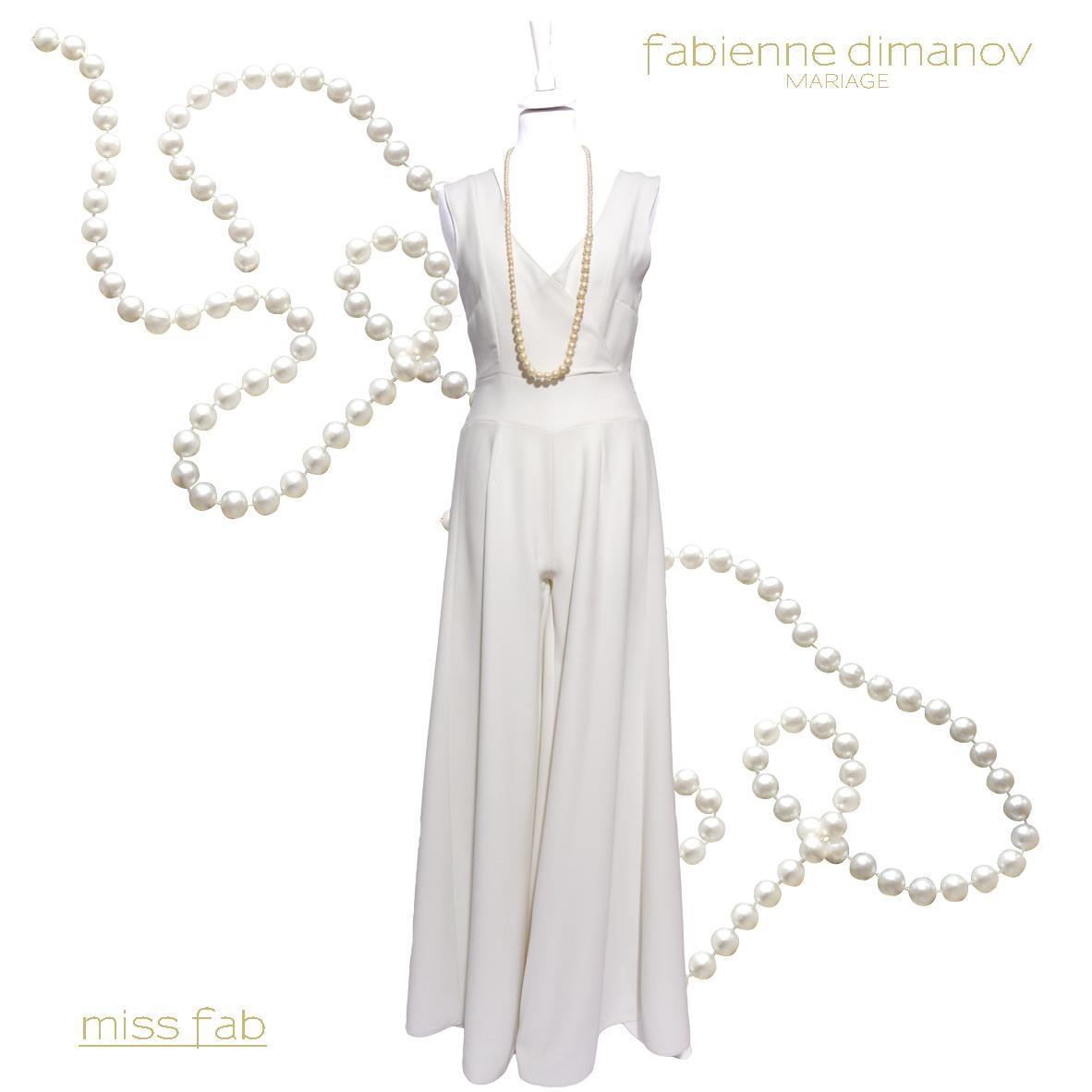 COMBI PATTE D'EPH IVOIRE - Miss Fab - Fabienne Dimanov Mariage