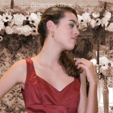 Rouge Sang - Robe de cocktail- Fabienne Dimanov Paris