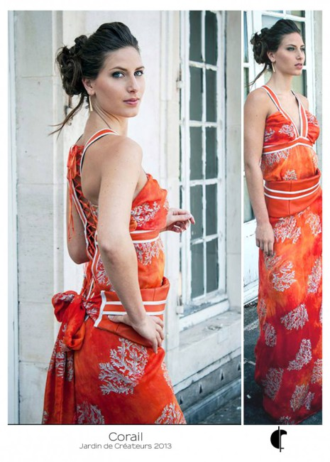 Corail au Jardin de créateurs - Fabienne Dimanov Paris