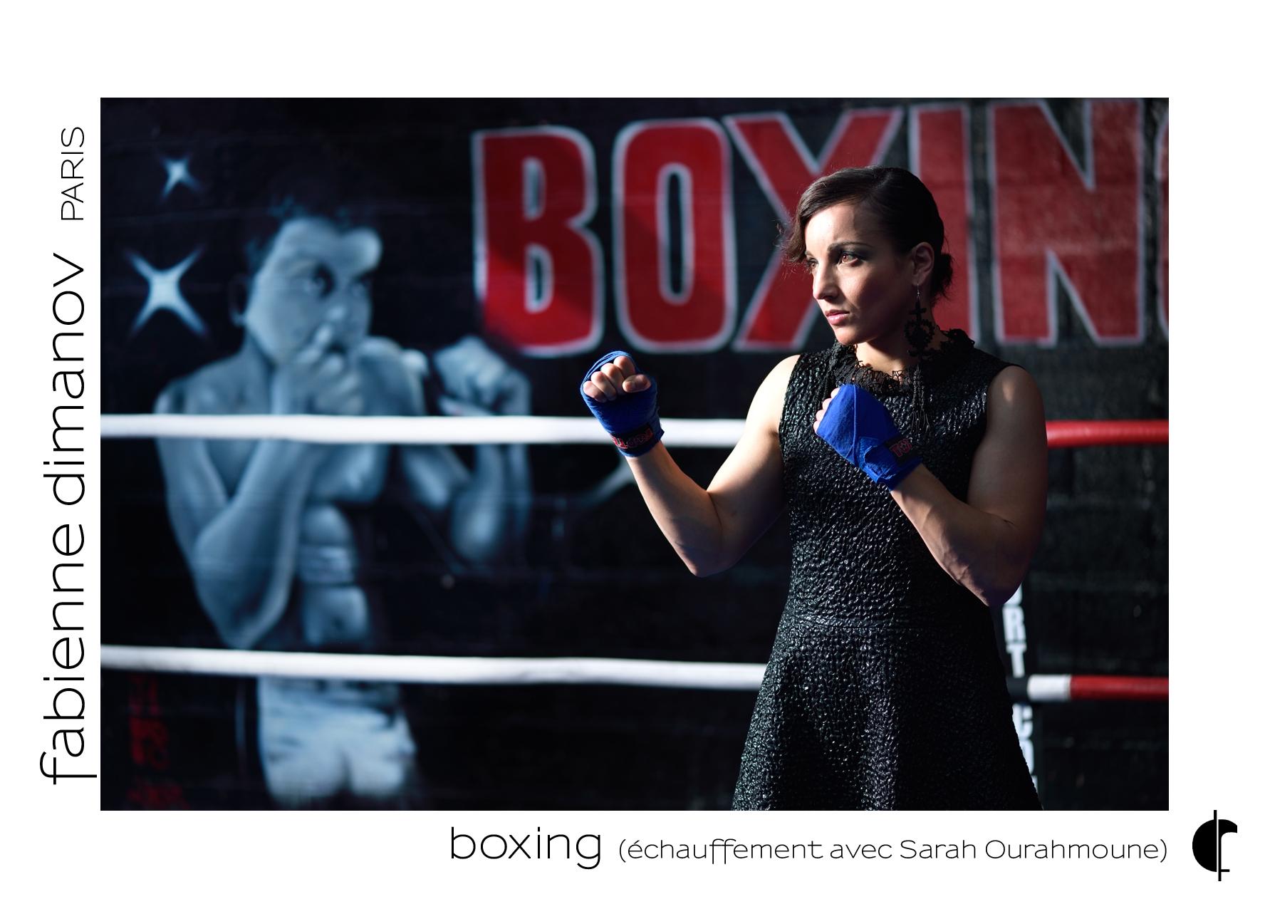 Shooting Sarah Ourahmoune - échauffement - Fabienne Dimanov Paris