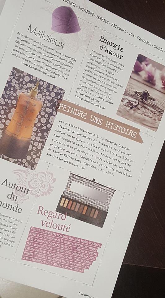 magazine happinez mars 2017 - Fabienne Dimanov Paris