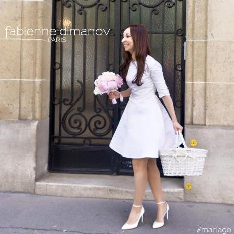 Robe de mariée rétro- Fabienne Dimanov Paris