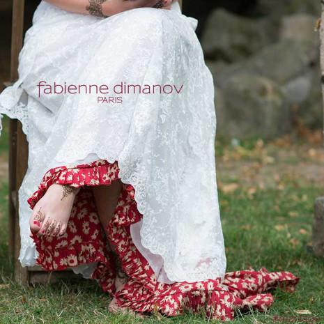Robe de mariée boheme- Fabienne Dimanov Paris