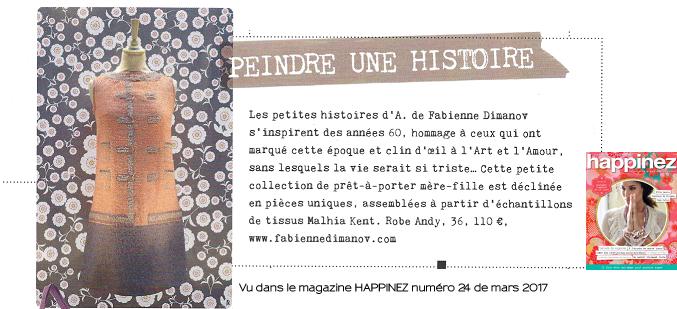 Les petites histoires d'A. - Happinez -Fabienne Dimanov Paris
