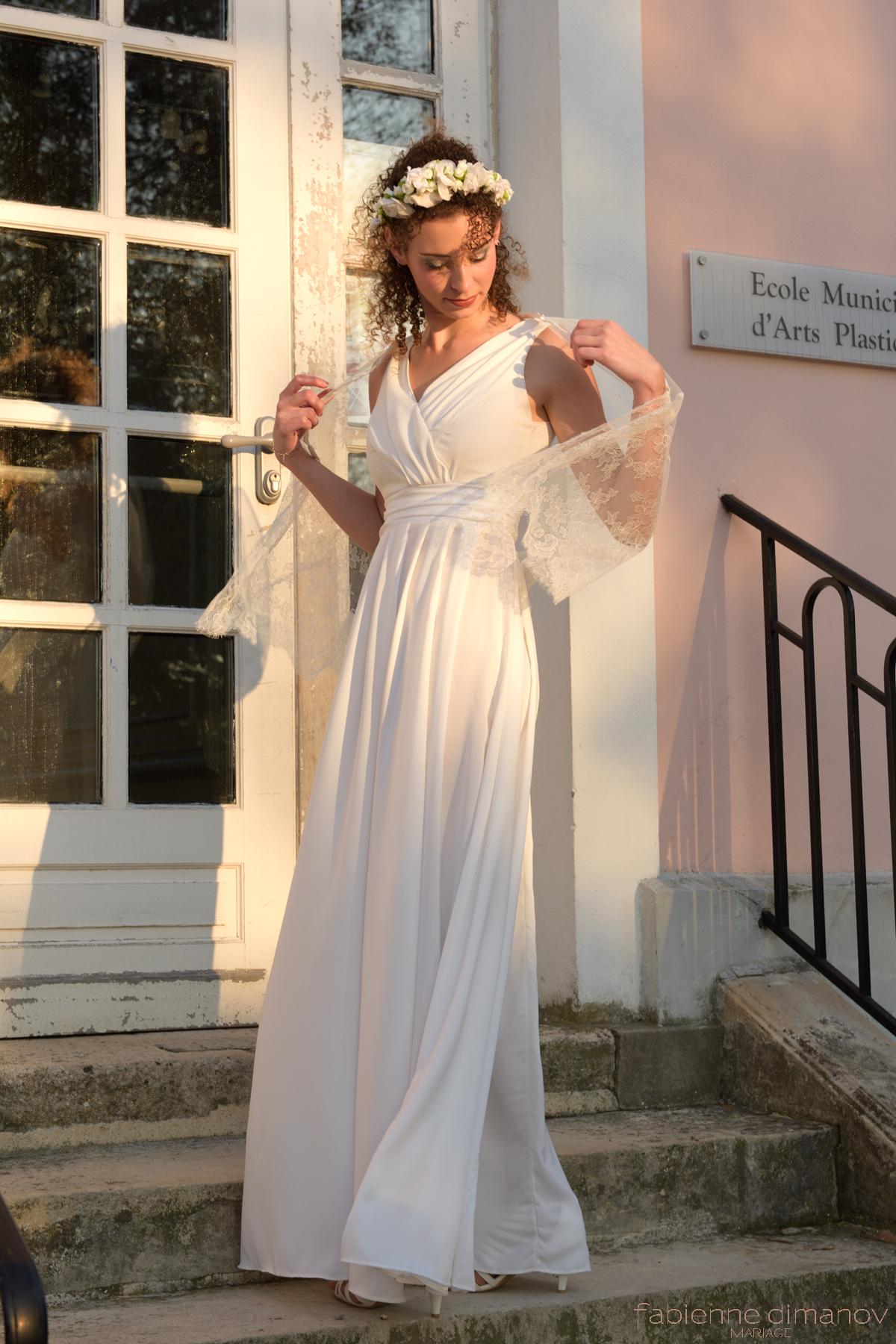 VESTALE - robe de mariée antique - Fabienne Dimanov Paris