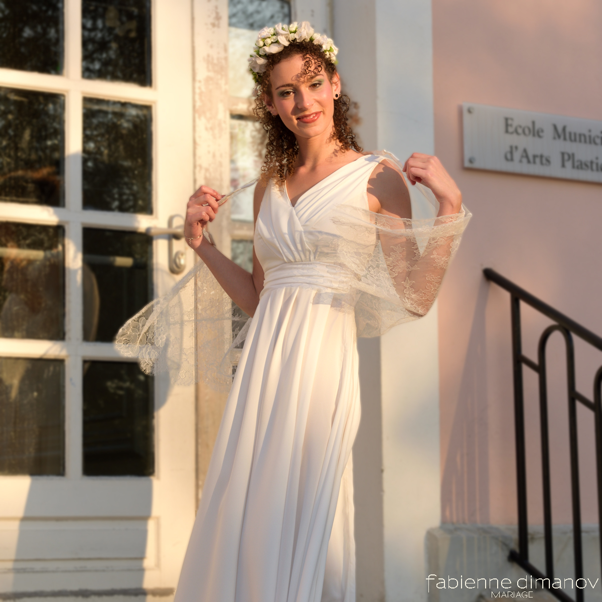 VESTALE – robe de mariée antique – Fabienne Dimanov Paris