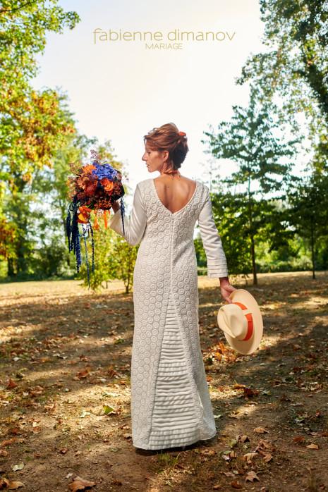 Cybele - Orange-Blue - Shooting d'inspiration - Mariage Rock Cécile & Junior - photo @larrypictureart