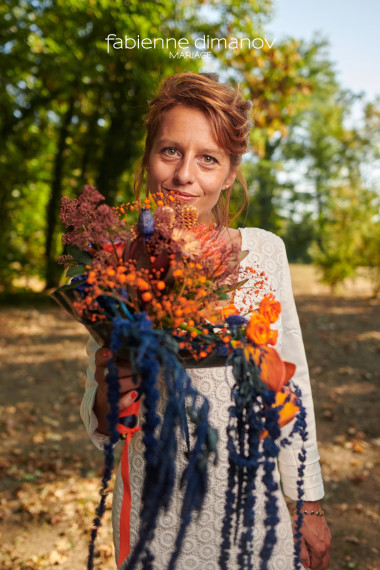 Orange-Blue - Shooting d'inspiration - Mariage Rock Cécile & Junior - photo @larrypictureart