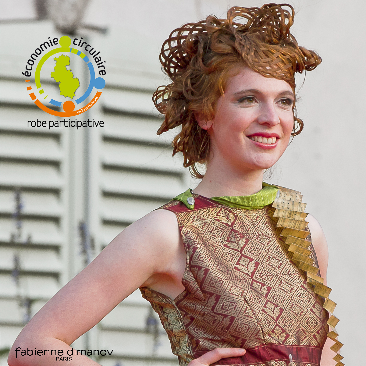 Gaia - robe participative - Fabienne dimanov Paris