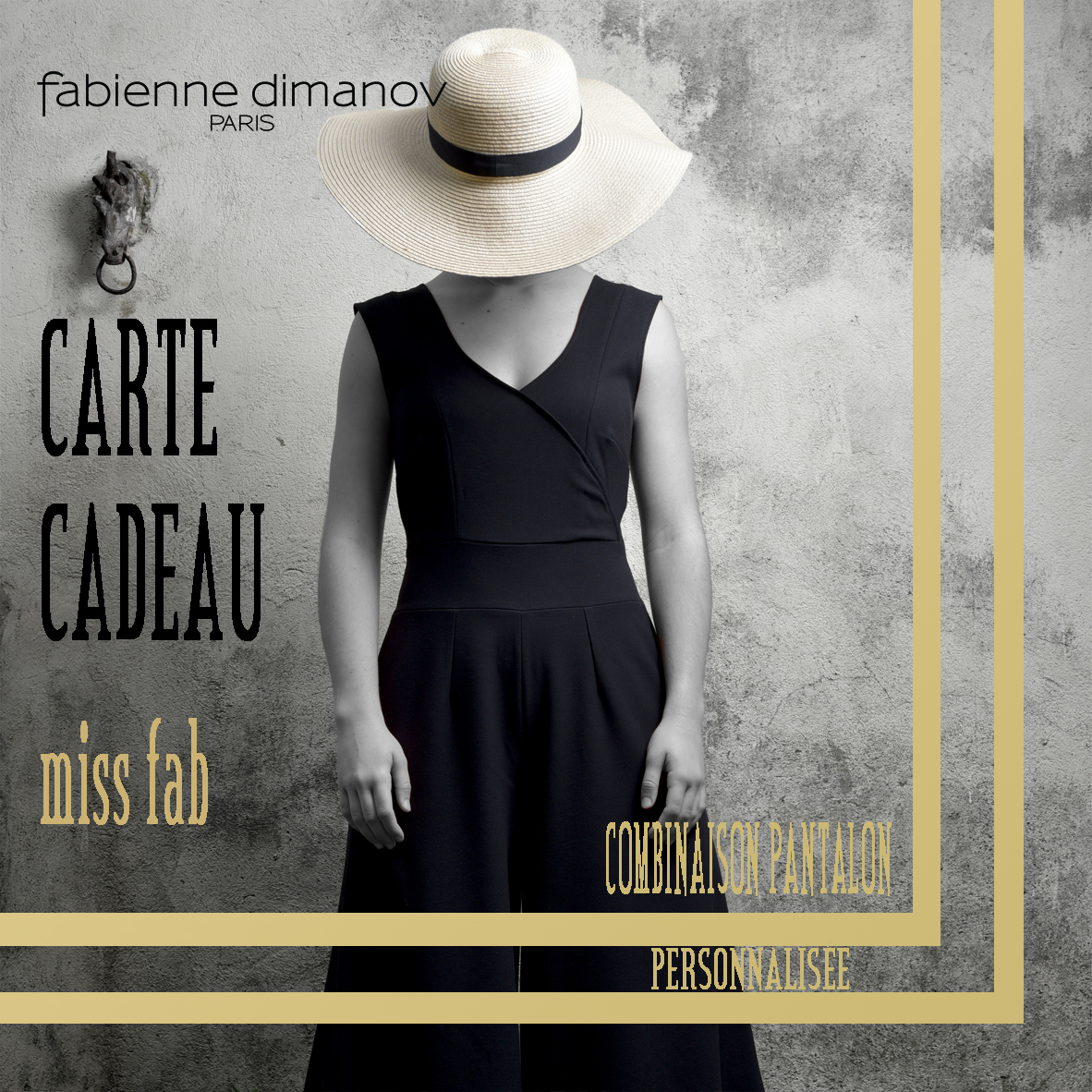 CARTE CADEAU miss fab - COMBINAISON PANTALON - Fabienne Dimanov Paris