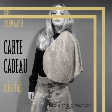 CARTE CADEAU miss fab- JUPE PERSONNALISÉE – Fabienne Dimanov Paris