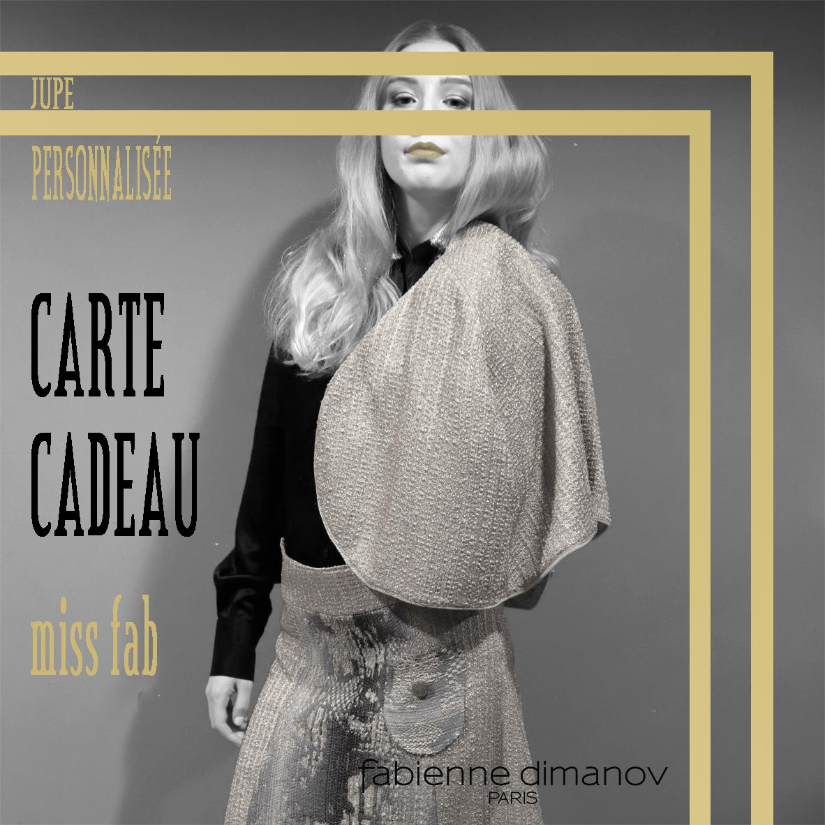 CARTE JUPE CADEAU miss fab- JUPE PERSONNALISÉE - Fabienne Dimanov Paris