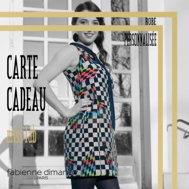 CARTE CADEAU miss fab – ROBE PERSONNALISÉE – Fabienne Dimanov Paris