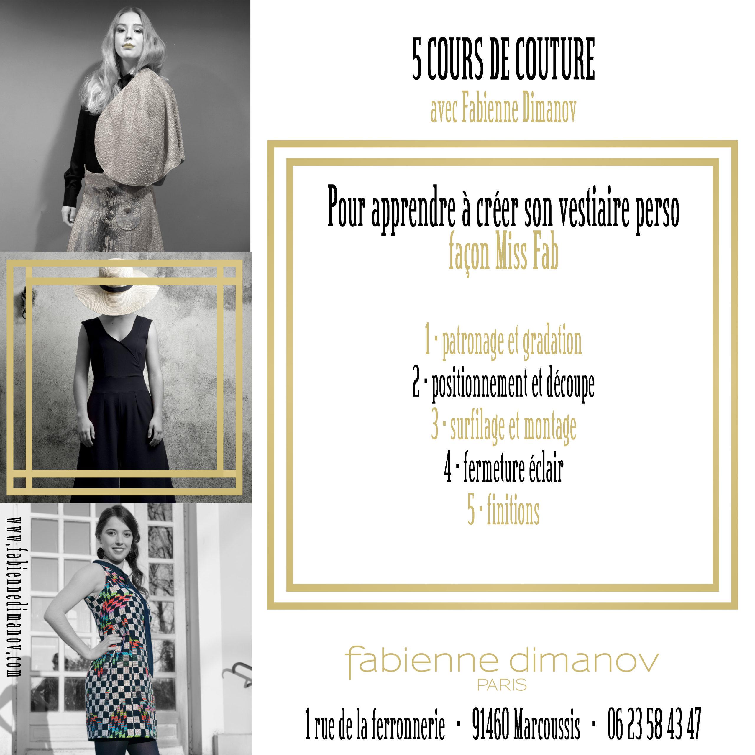 Cours de Couture – Miss Fab – Fabienne Dimanov Paris
