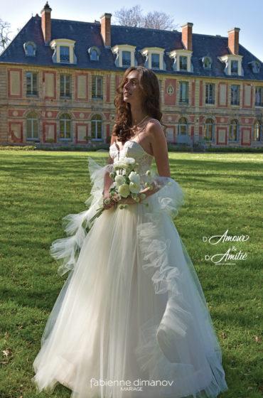 Robe de mariées corset princesse sur mesure – création unique personnalisée – D'Amour & D'Amitié – Fabienne Dimanov Mariage